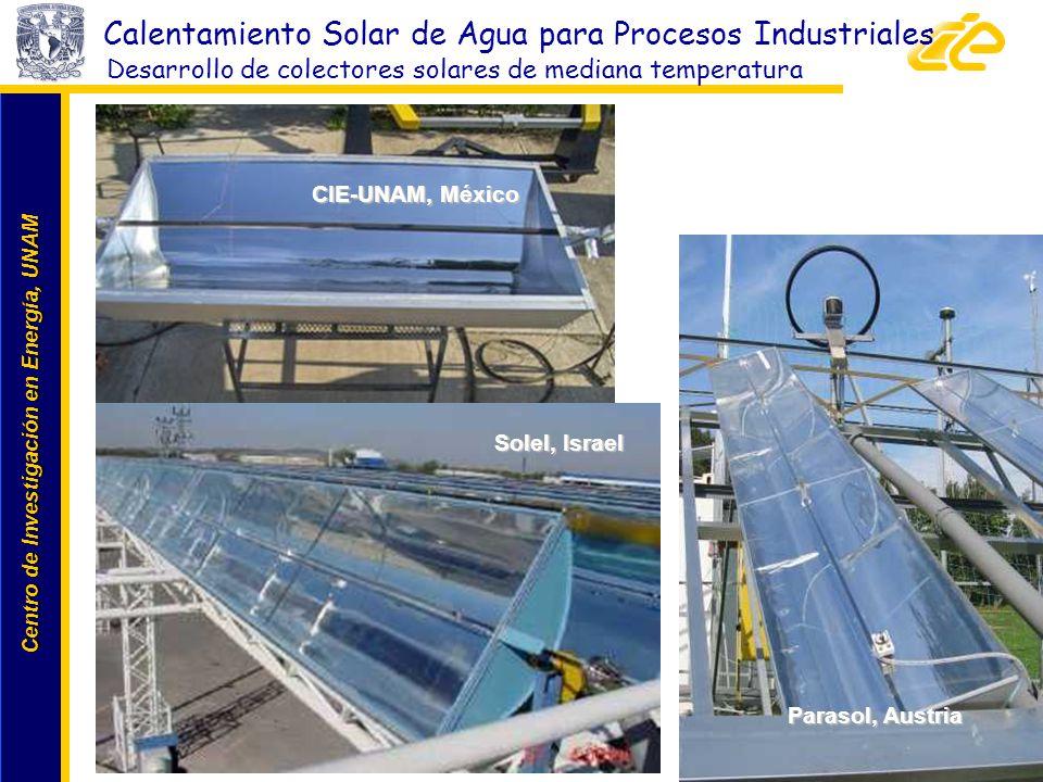 Centro de Investigación en Energía, UNAM Centro de Investigación en Energía, UNAM SIJ, Germany Parasol, Austria Calentamiento Solar de Agua para Proce
