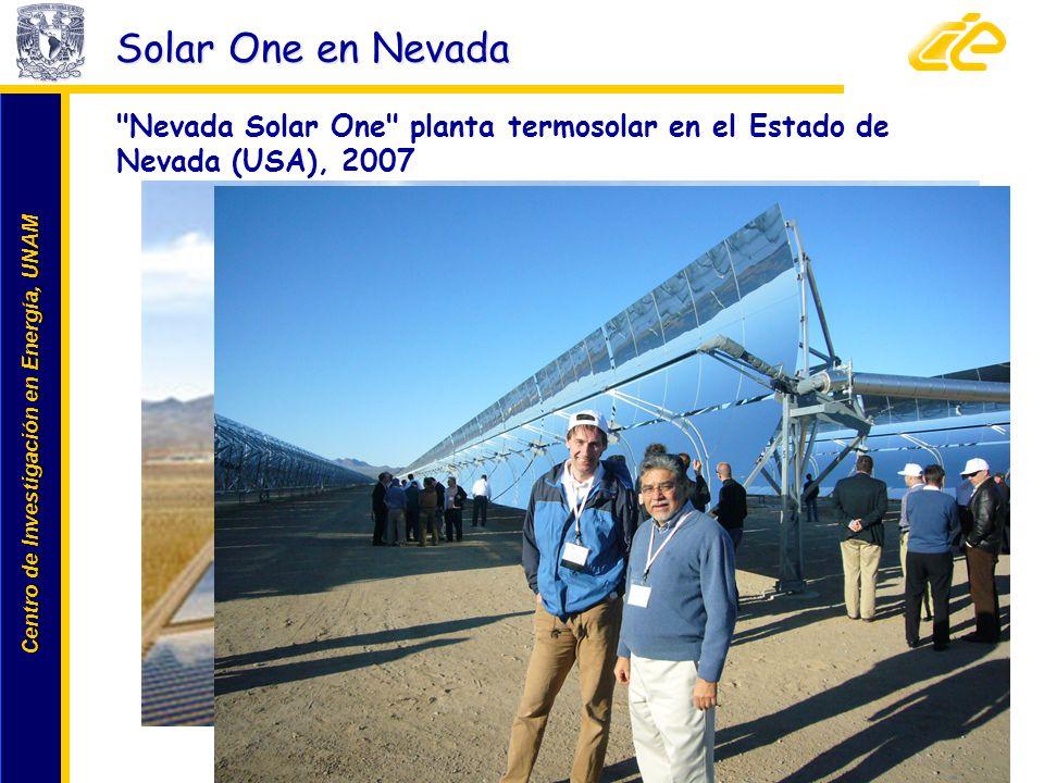 Centro de Investigación en Energía, UNAM Centro de Investigación en Energía, UNAM Solar One en Nevada www.cie.unam.mx
