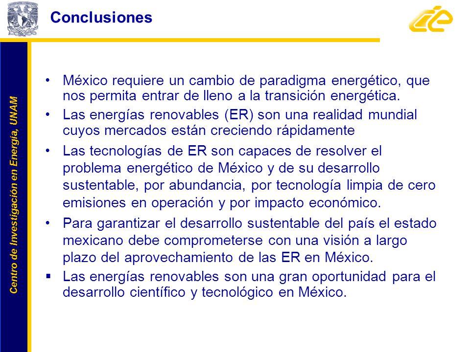 Centro de Investigación en Energía, UNAM Centro de Investigación en Energía, UNAM México requiere un cambio de paradigma energético, que nos permita e