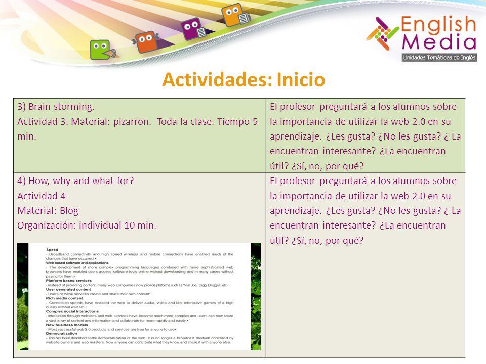 Actividades: Inicio 4) How to use Knowble.Actividad 4.
