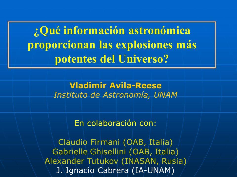 ¿Qué información astronómica proporcionan las explosiones más potentes del Universo.