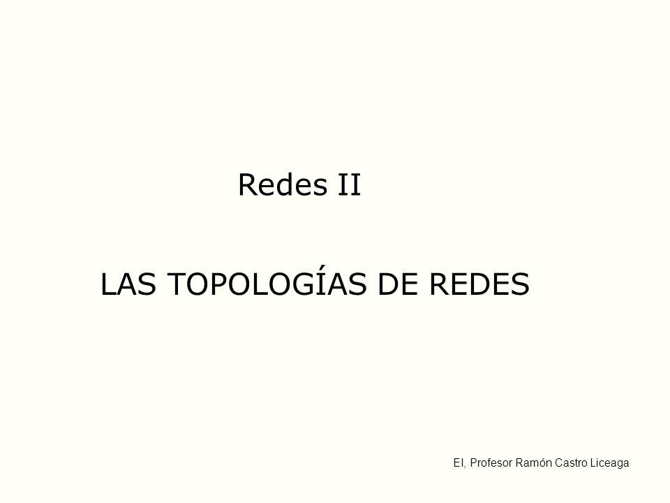 EI, Profesor Ramón Castro Liceaga Redes II LAS TOPOLOGÍAS DE REDES