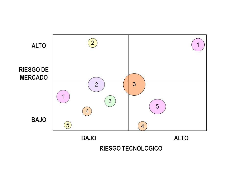 3 1 1 5 4 3 2 2 5 4 RIESGO DE MERCADO RIESGO TECNOLOGICO BAJO ALTO BAJO