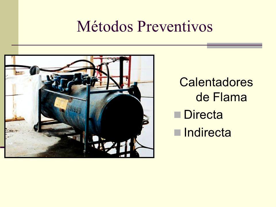 Métodos Preventivos Calentadores de Flama Directa Indirecta