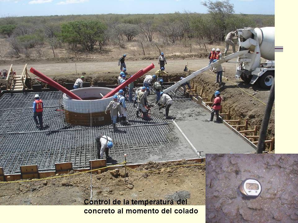 Control de la temperatura del concreto al momento del colado