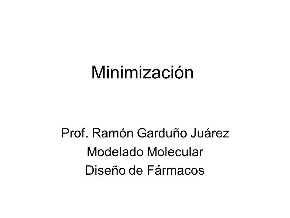 Minimización Prof. Ramón Garduño Juárez Modelado Molecular Diseño de Fármacos