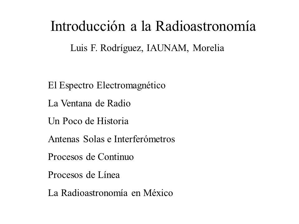 Introducción a la Radioastronomía Luis F.