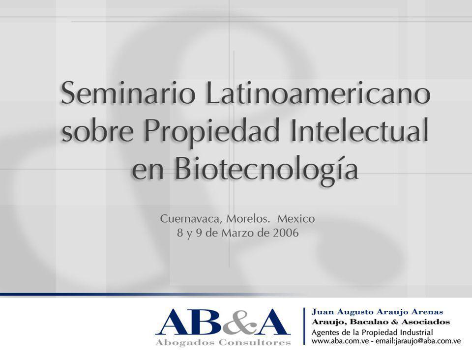 Protección Existente En general, según el TRIPS, la protección de patentes en biotecnología no es diferente a otros campos.