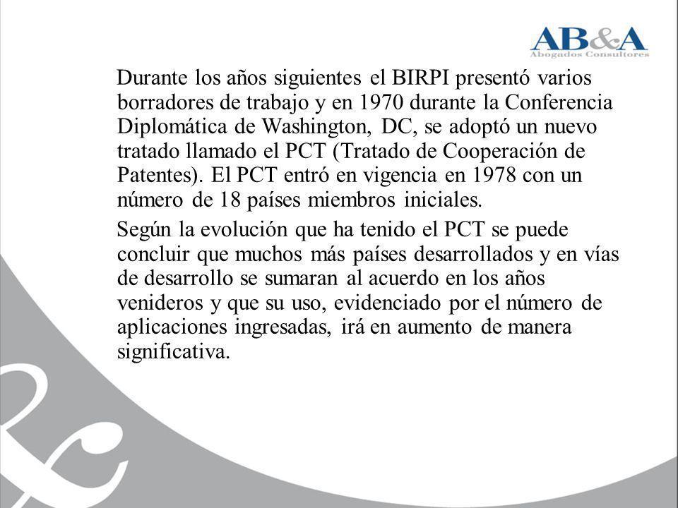Durante los años siguientes el BIRPI presentó varios borradores de trabajo y en 1970 durante la Conferencia Diplomática de Washington, DC, se adoptó u