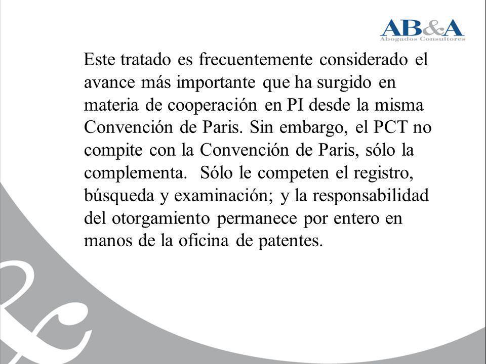 Este tratado es frecuentemente considerado el avance más importante que ha surgido en materia de cooperación en PI desde la misma Convención de Paris.