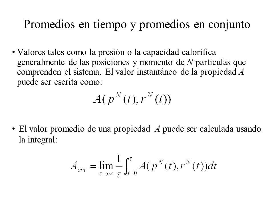 Para números microscópicos de átomos o moléculas ( del orden de 10 23, el número de Avogadro es 6.02214199 × 10 23 ) no es posible determinar una configuración inicial del sistema, y luego intentar integrar ka ecuación de movimiento que describe su evolución temporal.