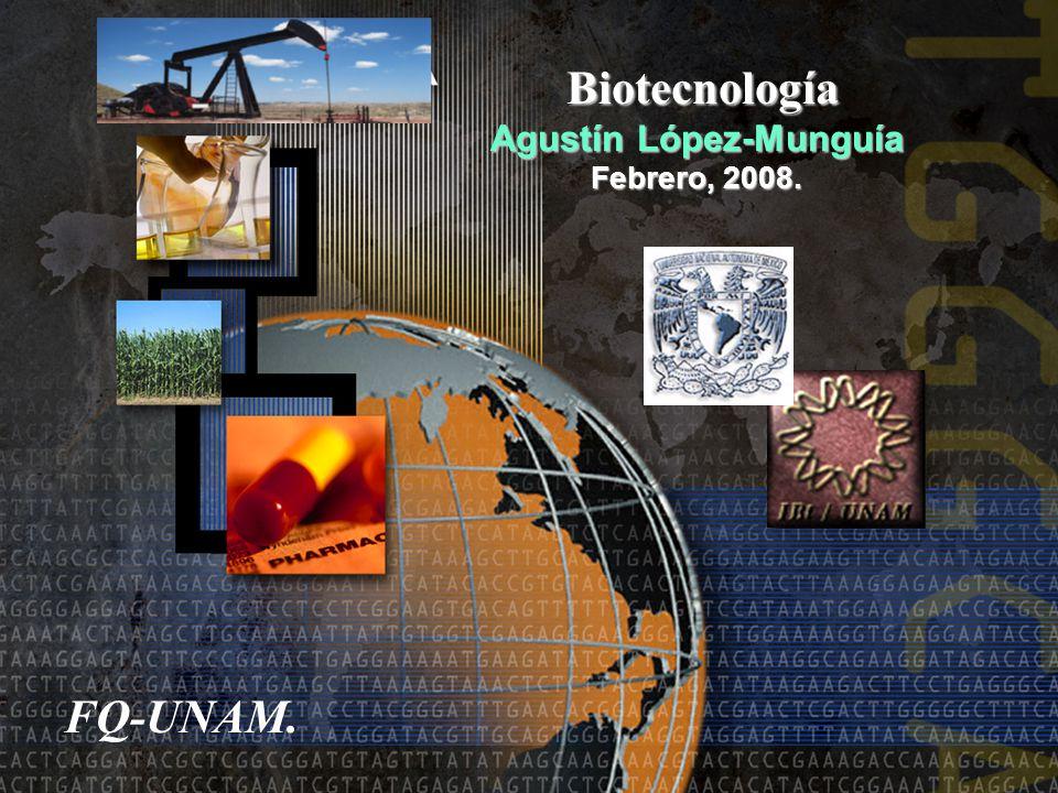 Biotecnología Biotecnología Agustín López-Munguía Febrero, 2008. FQ-UNAM.