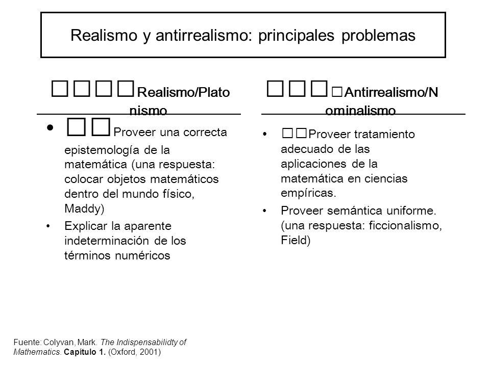 David Armstrong Naturalismo: la realidad consiste en un sistema espacio-temporal omni-abarcante y sólo en eso.