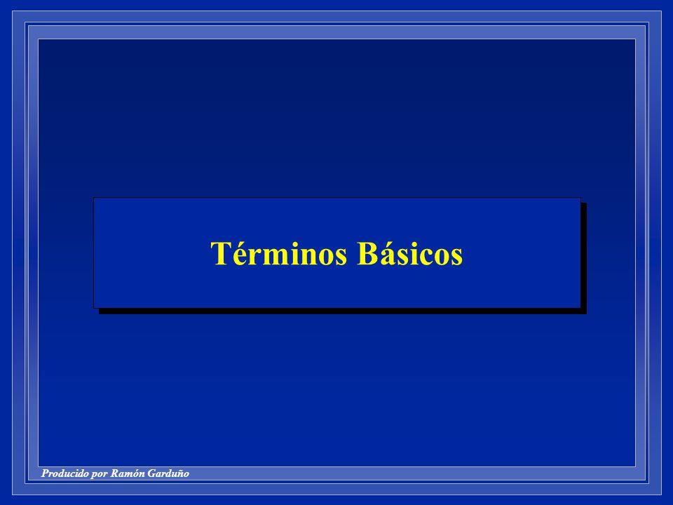 Producido por Ramón Garduño Términos Básicos