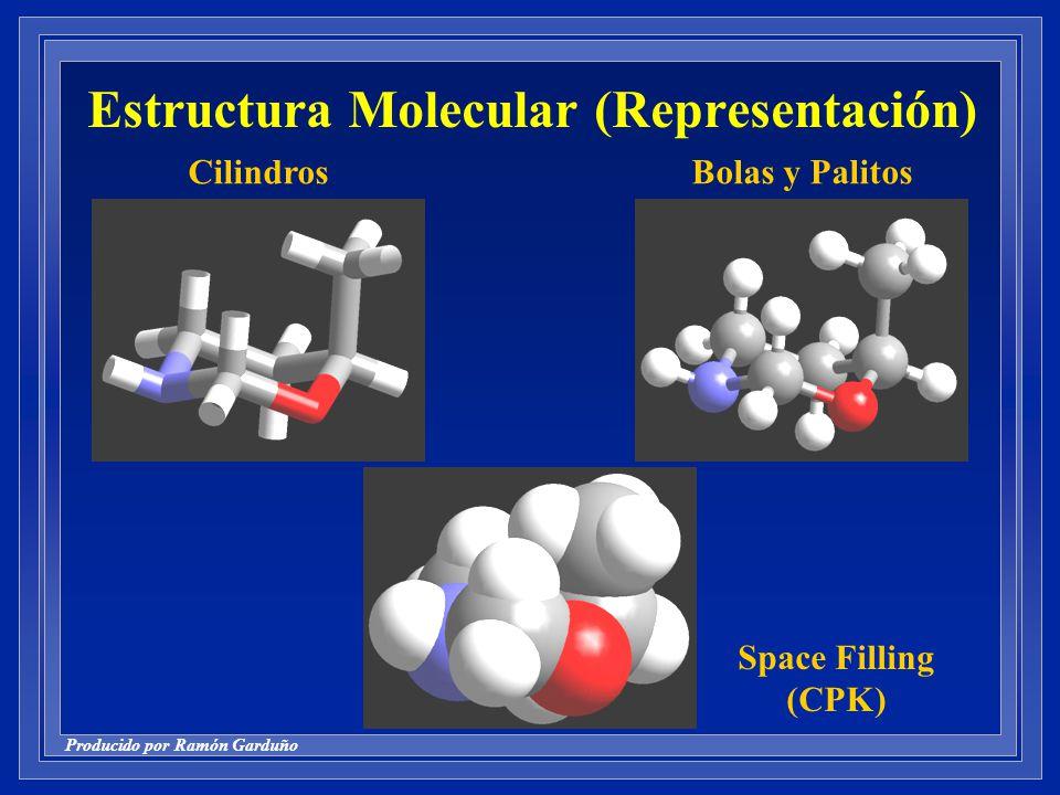 Producido por Ramón Garduño Estructura Molecular (Representación) Space Filling (CPK) CilindrosBolas y Palitos