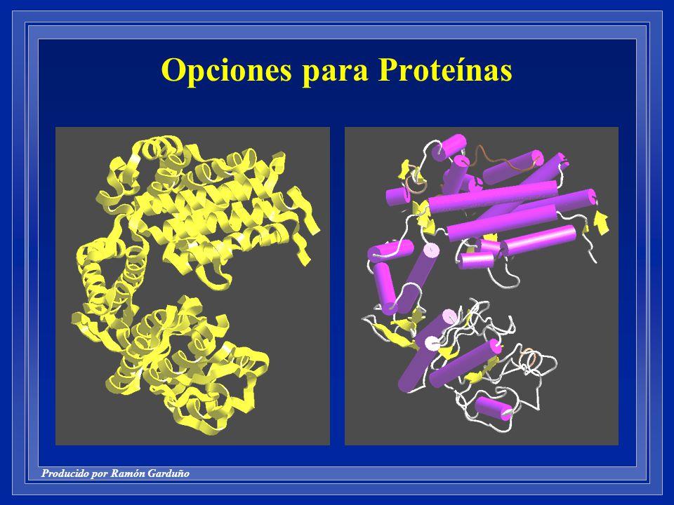 Producido por Ramón Garduño Opciones para Proteínas