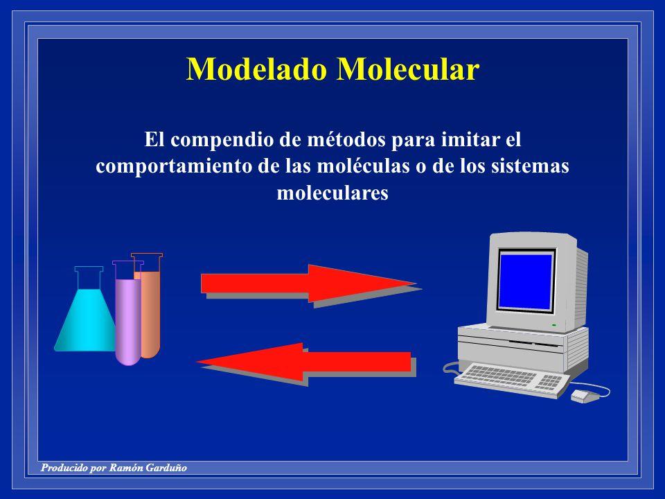 Producido por Ramón Garduño Modelado Molecular El compendio de métodos para imitar el comportamiento de las moléculas o de los sistemas moleculares