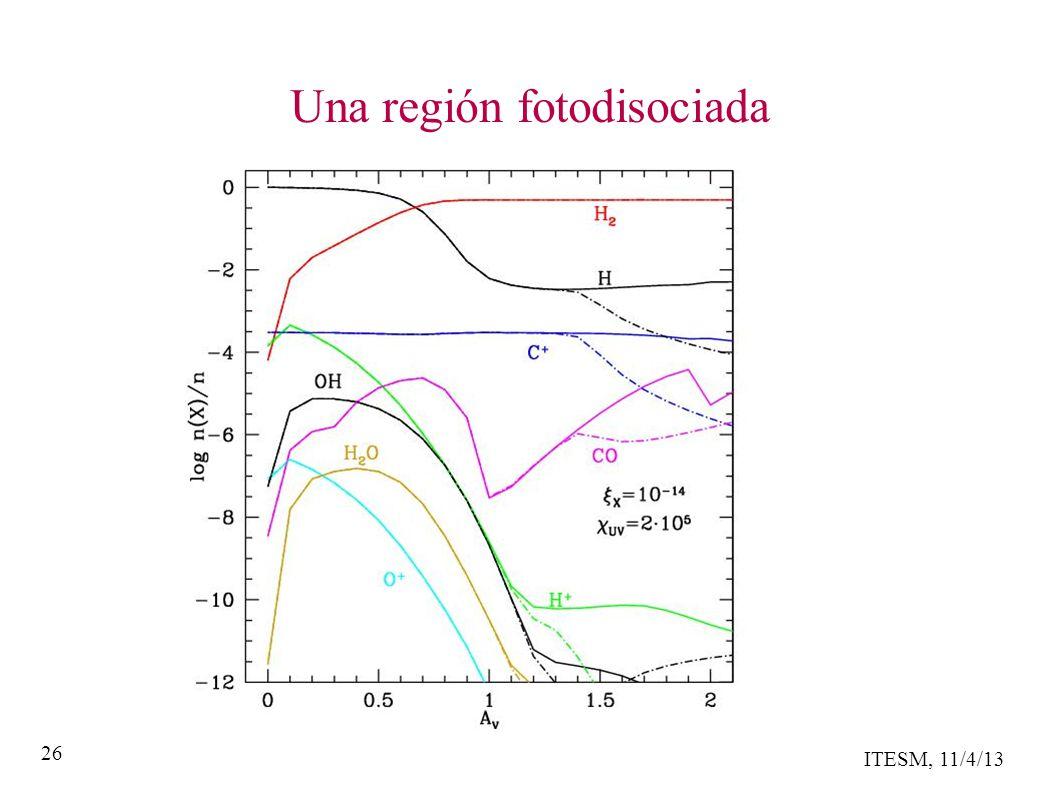 ITESM, 11/4/13 26 Una región fotodisociada