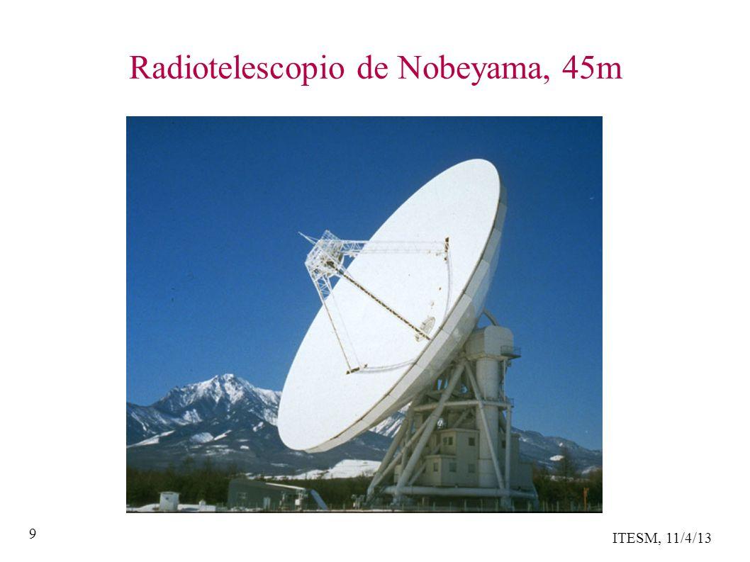 ITESM, 11/4/13 9 Radiotelescopio de Nobeyama, 45m