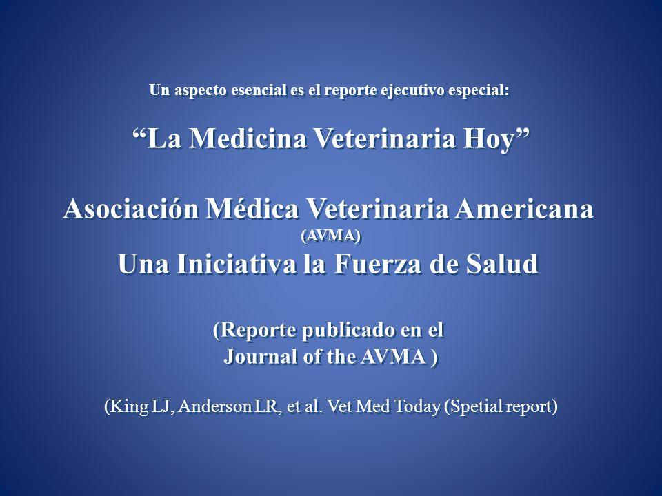 Un aspecto esencial es el reporte ejecutivo especial: La Medicina Veterinaria Hoy Asociación Médica Veterinaria Americana (AVMA) Una Iniciativa la Fue