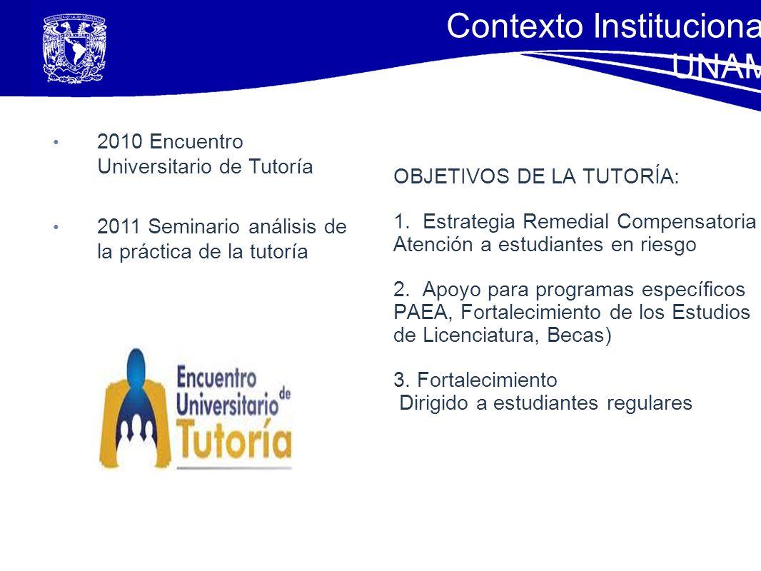 OBJETIVOS DE LA TUTORÍA: 1. Estrategia Remedial Compensatoria Atención a estudiantes en riesgo 2. Apoyo para programas específicos PAEA, Fortalecimien