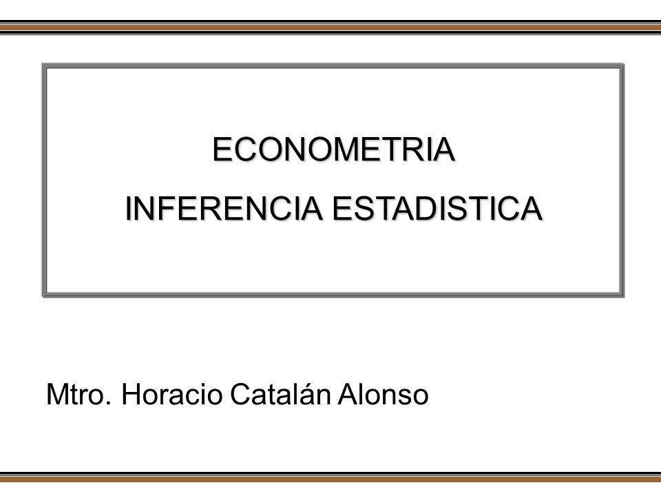 ECONOMETRIA INFERENCIA ESTADISTICA Mtro. Horacio Catalán Alonso