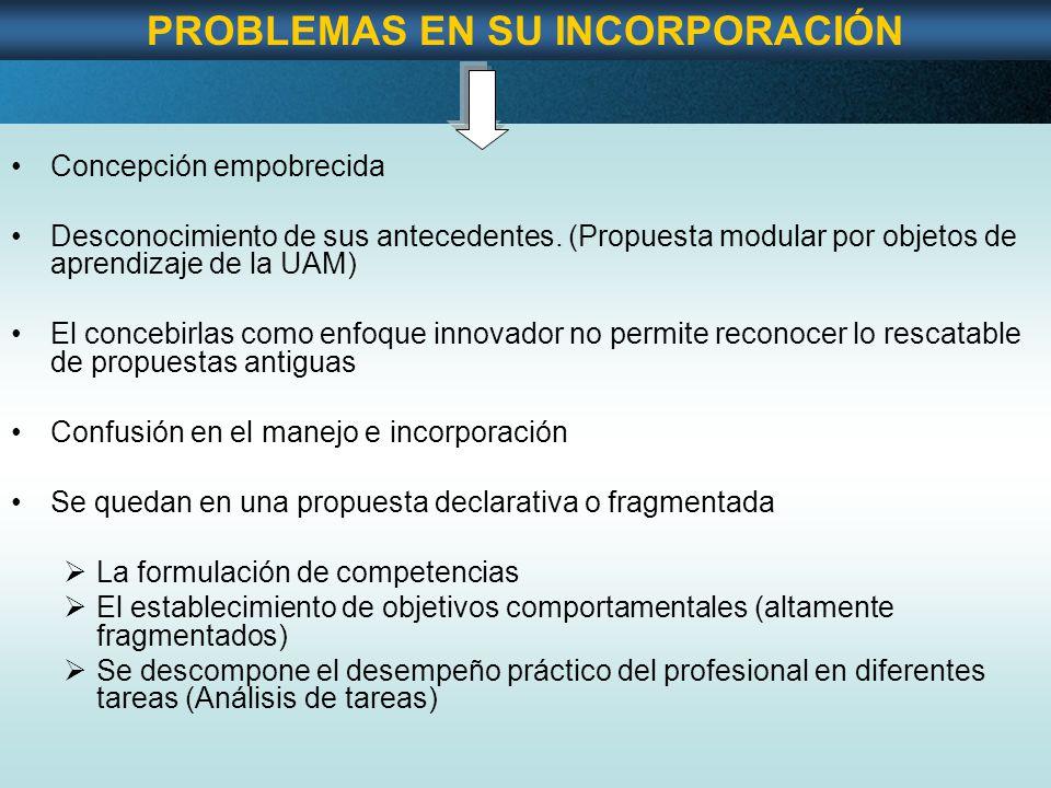 Page 20 Concepción empobrecida Desconocimiento de sus antecedentes.