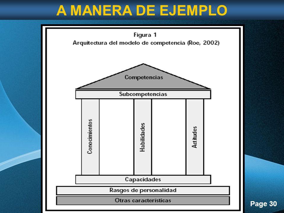 Page 30 A MANERA DE EJEMPLO