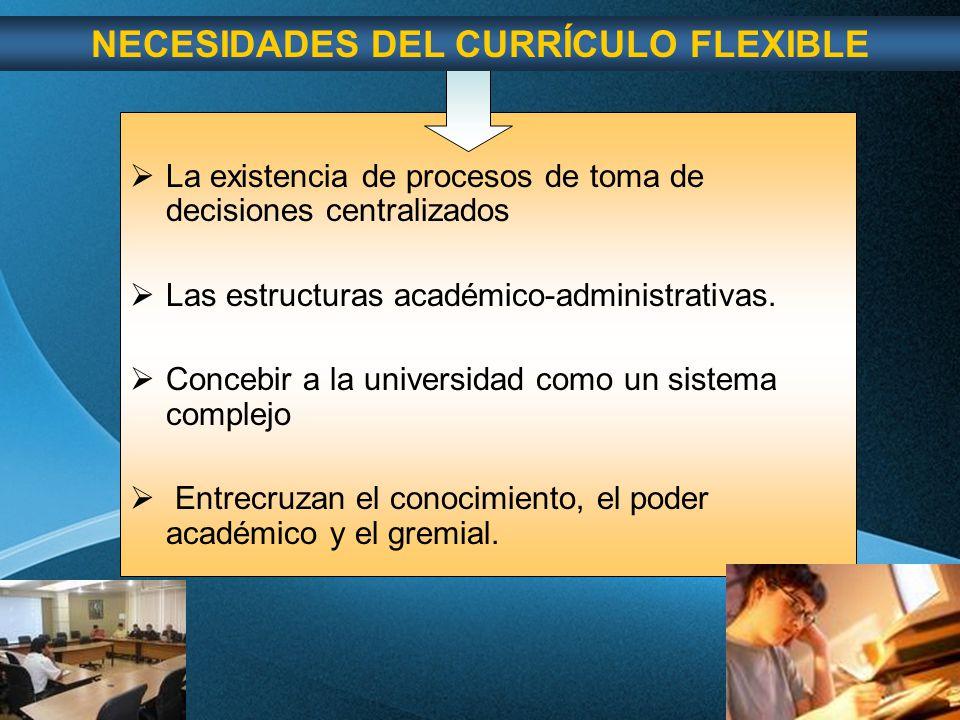 Page 54 La existencia de procesos de toma de decisiones centralizados Las estructuras académico-administrativas.