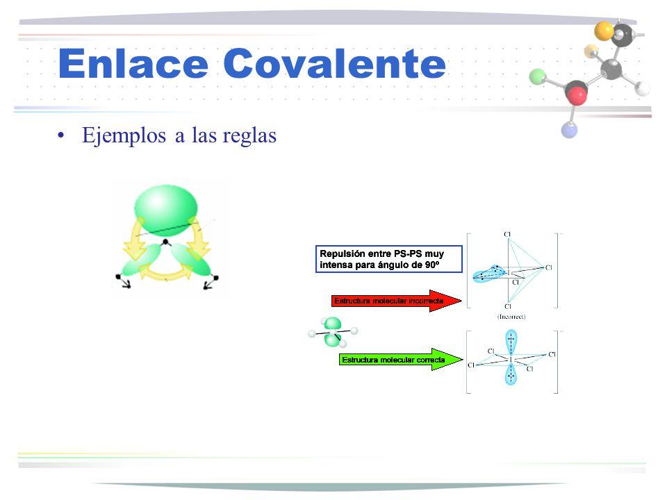 Enlace Covalente Ejemplos a las reglas