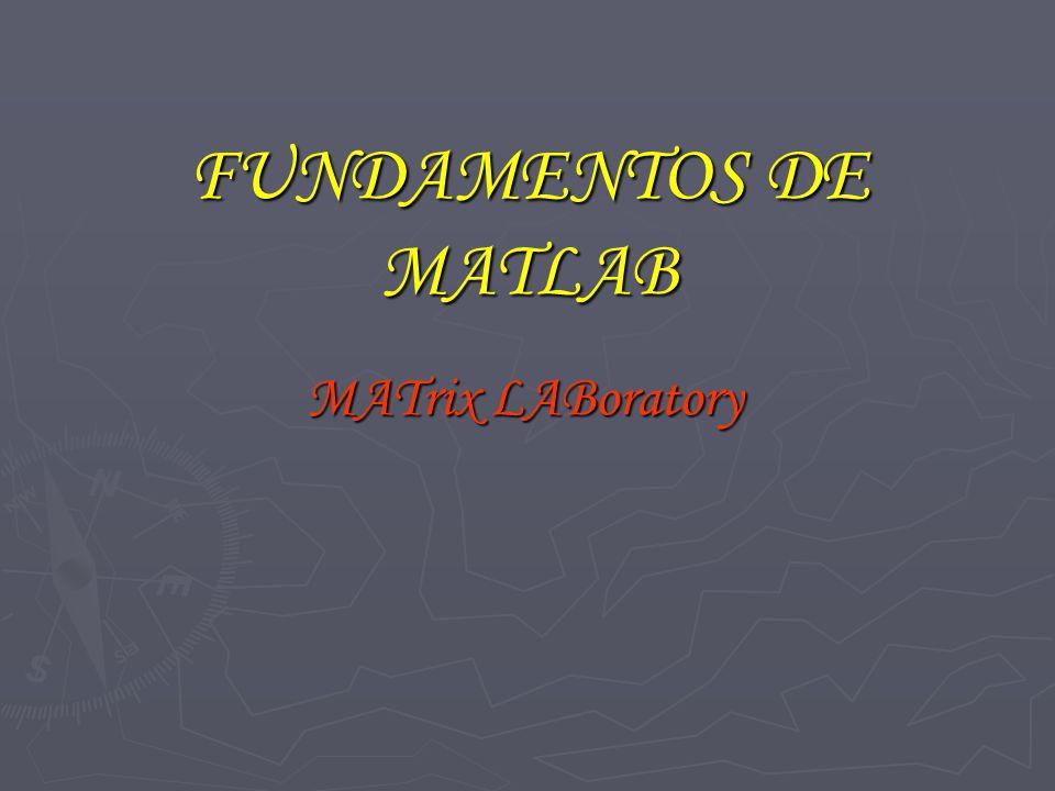 FUNDAMENTOS DE MATLAB MATrix LABoratory