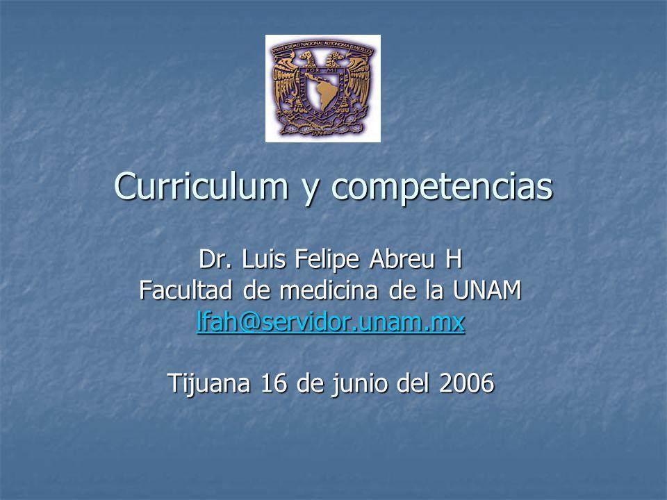 Proceso de planeación y ejecución currículo por competencias Tiempo Dominio de la competencia Competencias de salida (E.