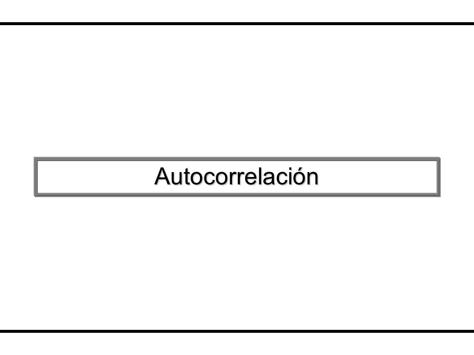 Autocorrelación