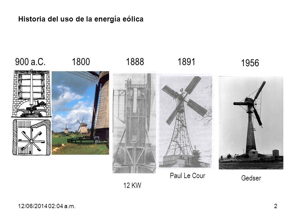 12/06/2014 02:06 a.m.33 Tipos de aerogeneradores: Por la adecuación de la orientación del equipo a la dirección del viento en cada momento.