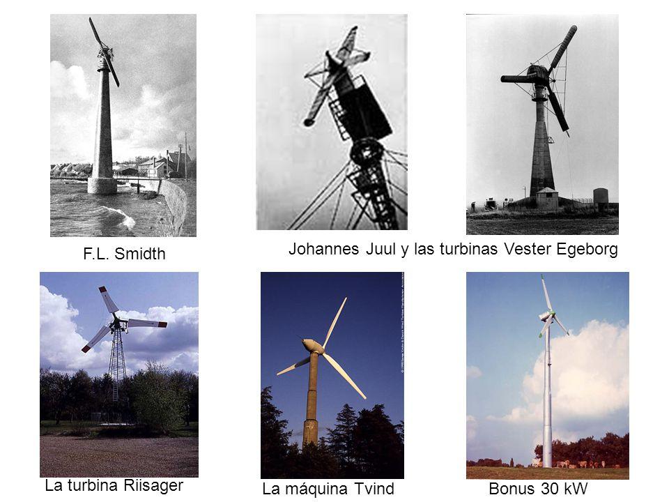 12/06/2014 02:06 a.m.4 F.L. Smidth Johannes Juul y las turbinas Vester Egeborg La turbina Riisager La máquina TvindBonus 30 kW