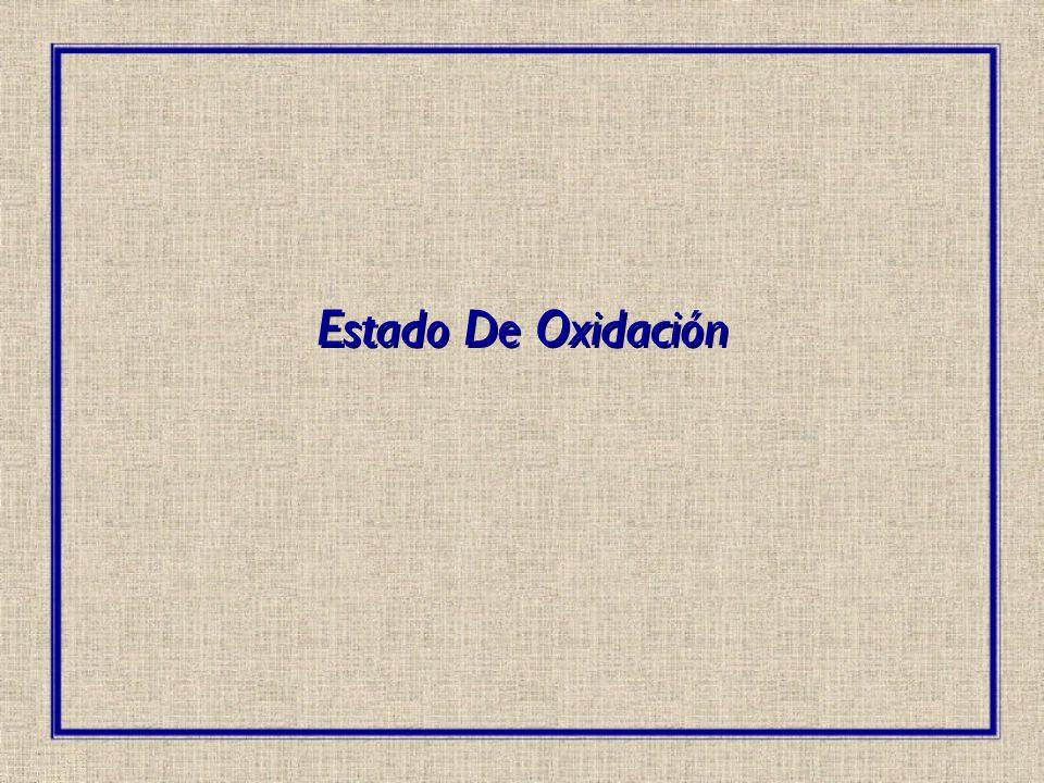 Estado De Oxidación