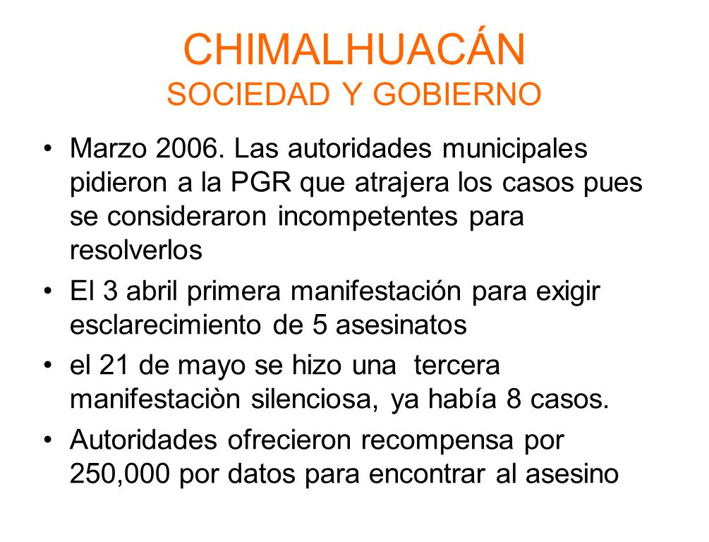 CHIMALHUACÁN SOCIEDAD Y GOBIERNO Marzo 2006.
