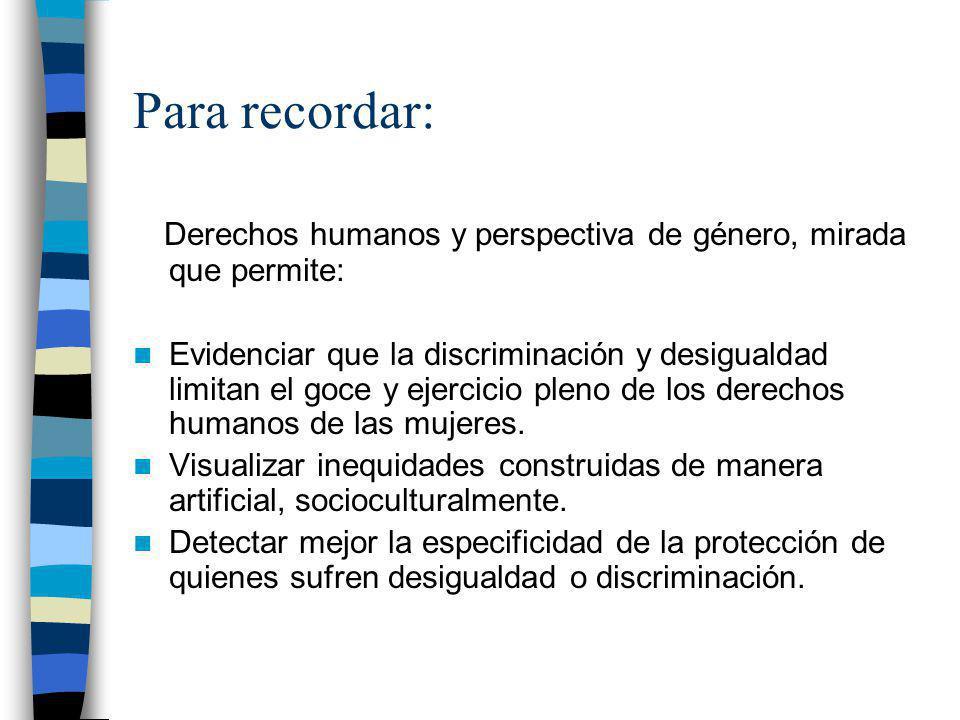 Balance general equidad de género en la región Declaración Comité CEDAW (octubre 2004) –Ningún país en el mundo ha logrado igualdad completa de género, ni en leyes ni en práctica.