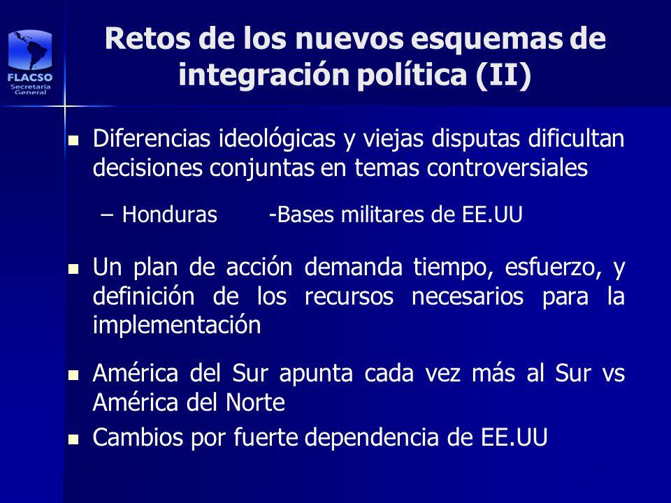 Retos de los nuevos esquemas de integración política (II) Diferencias ideológicas y viejas disputas dificultan decisiones conjuntas en temas controver