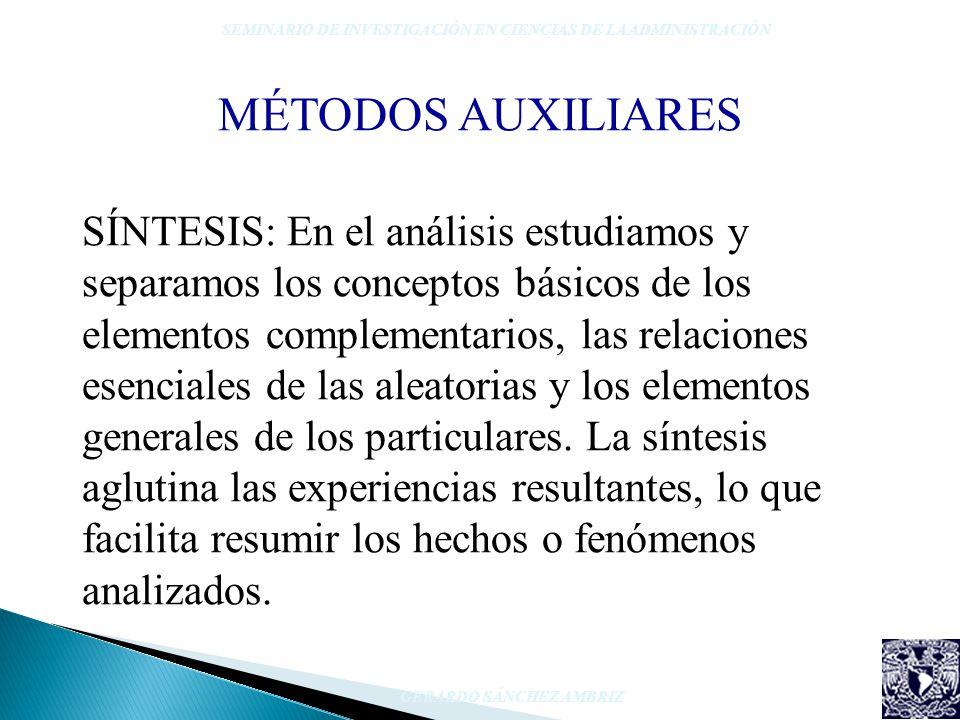 SÍNTESIS: En el análisis estudiamos y separamos los conceptos básicos de los elementos complementarios, las relaciones esenciales de las aleatorias y