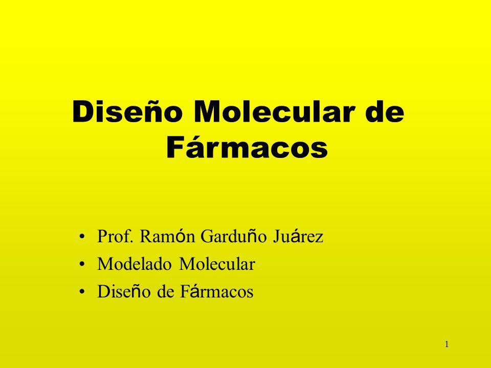 1 Diseño Molecular de Fármacos Prof.