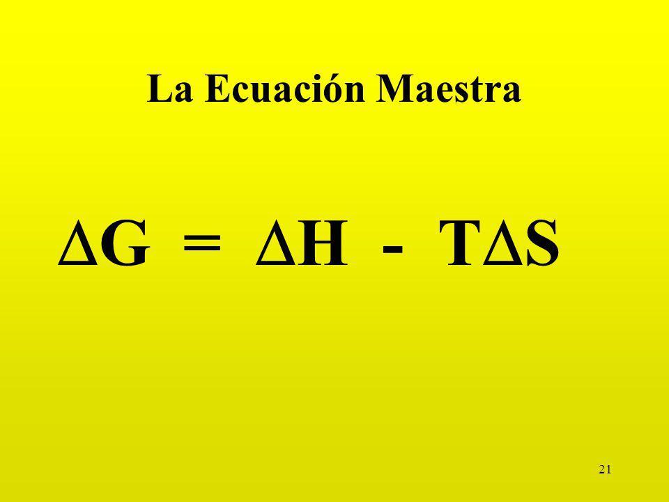 21 La Ecuación Maestra G = H - T S