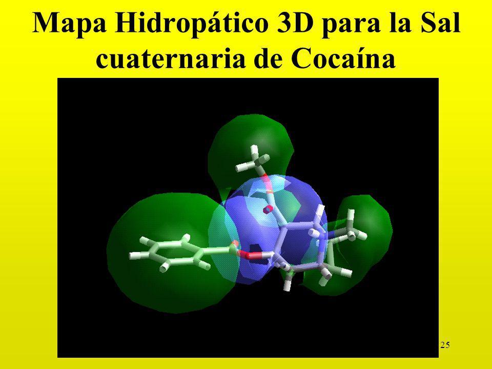 25 Mapa Hidropático 3D para la Sal cuaternaria de Cocaína