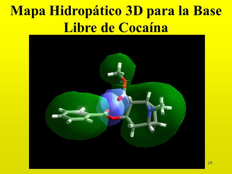 26 Mapa Hidropático 3D para la Base Libre de Cocaína