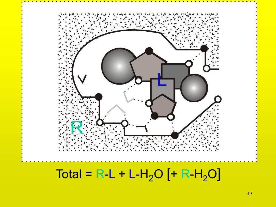 43 Total = R-L + L-H 2 O [ + R-H 2 O ] L R