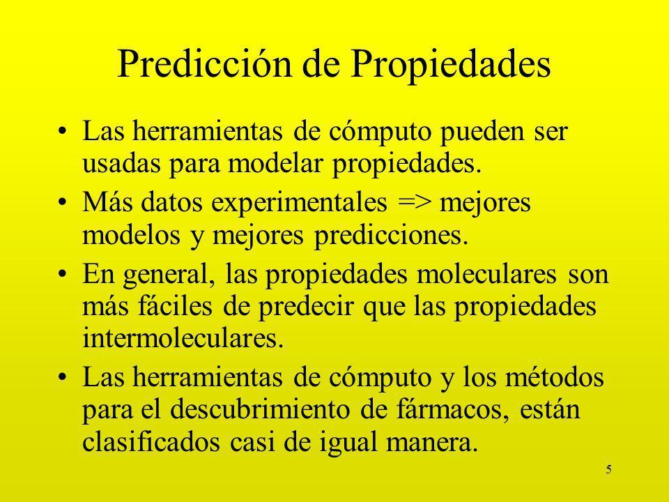 5 Predicción de Propiedades Las herramientas de cómputo pueden ser usadas para modelar propiedades.