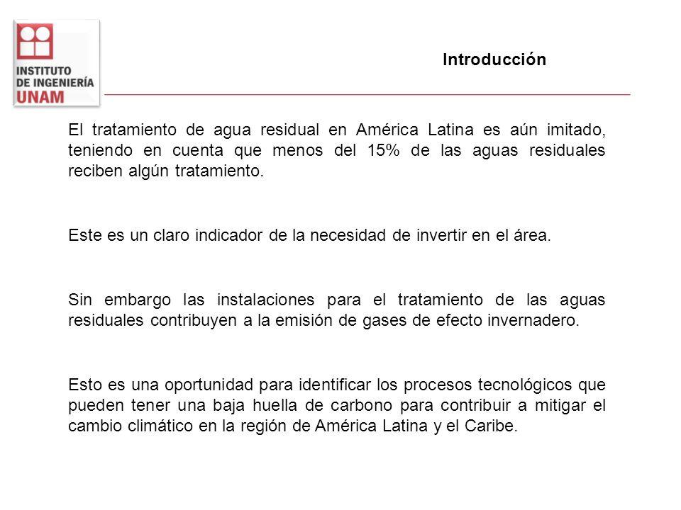 Introducción El tratamiento de agua residual en América Latina es aún imitado, teniendo en cuenta que menos del 15% de las aguas residuales reciben al