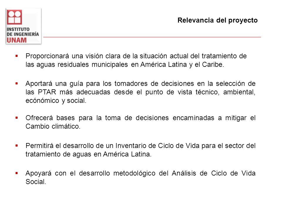 Proporcionará una visión clara de la situación actual del tratamiento de las aguas residuales municipales en América Latina y el Caribe. Relevancia de