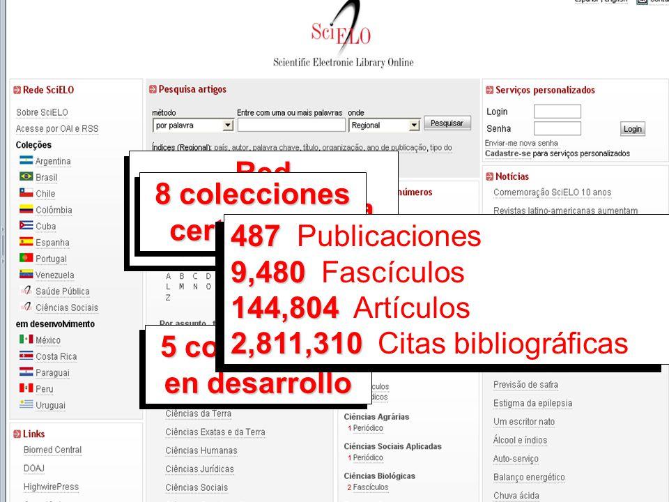 Hemeroteca virtual científica creada en 1997 12América Latina, el Caribe,De alcance iberoamericano conformado por colecciones nacionales en 12 países