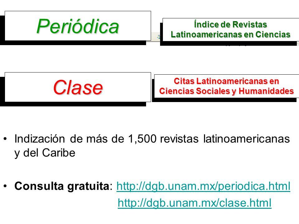 Periódica Periódica Índice de Revistas Latinoamericanas en Ciencias Indización de más de 1,500 revistas latinoamericanas y del Caribe Consulta gratuit